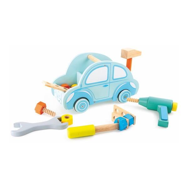 Set unelte și instrumente de jucărie Legler Car Tool, lemn