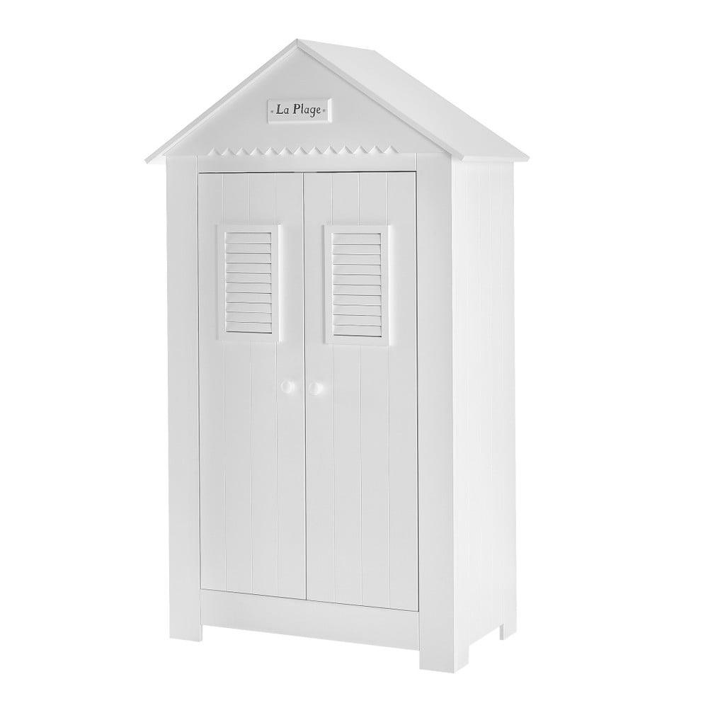 Bílá dvoudveřová šatní skříň Pinio Marseille