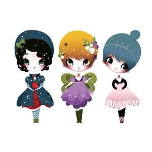 Samolepka Dress Up Dolls Mini, 3 ks