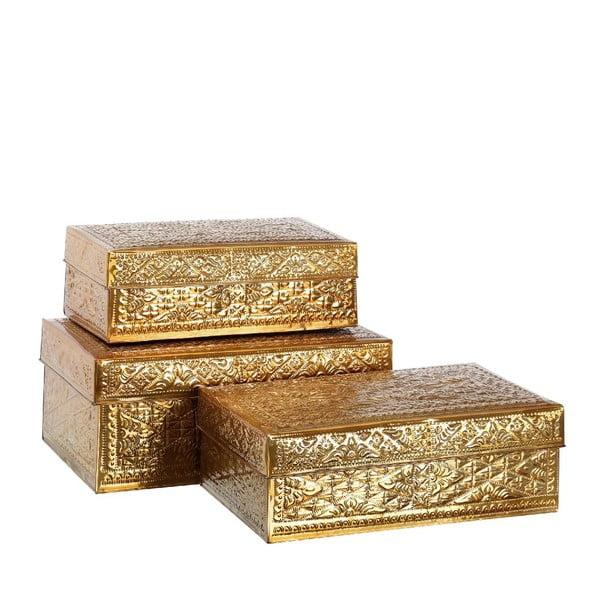 Set 3 boxů Golden Aluminium