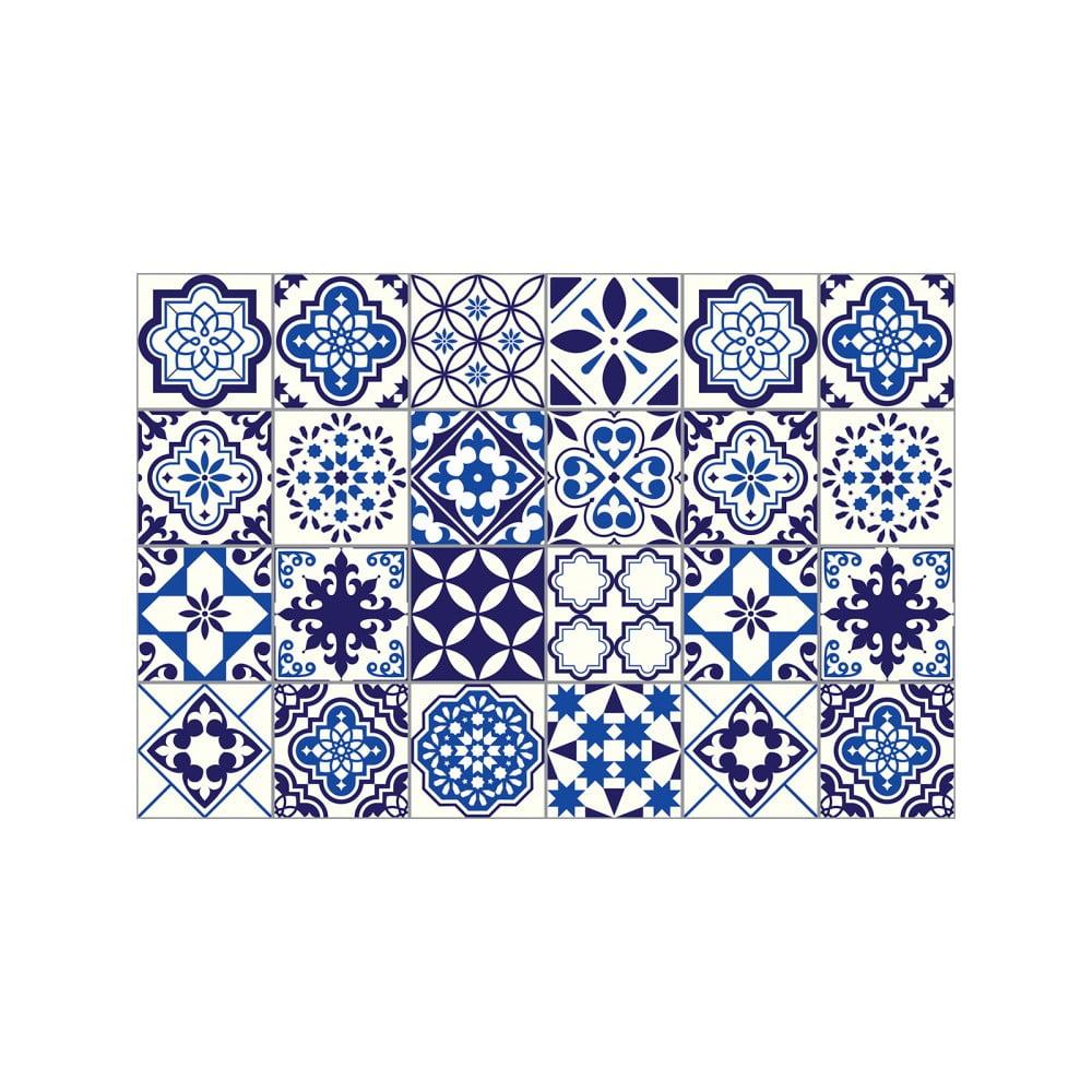Sada 24 nástěnných samolepek Ambiance Decals Tiles Eusebio, 10 x 10 cm