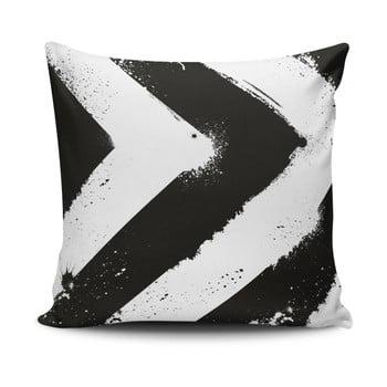 Față de pernă Calento Tassa, 45 x 45 cm, negru – alb de la Cushion Love