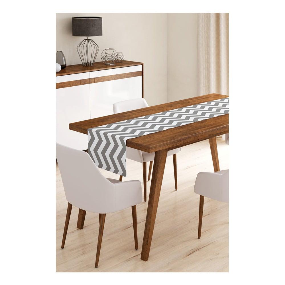 Produktové foto Běhoun na stůl z mikrovlákna Minimalist Cushion Covers Grey Stripes, 45x145cm