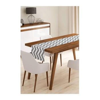 Napron din microfibră pentru masă Minimalist Cushion Covers Grey Stripes, 45x145cm imagine
