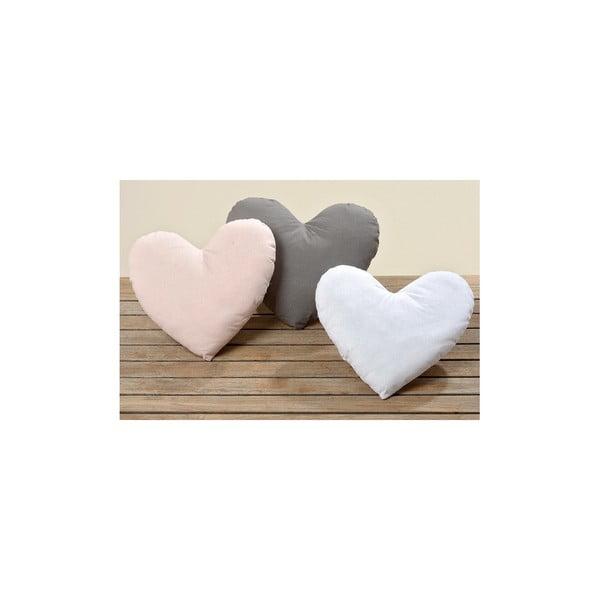 Sada 3 polštářů Heart, 28x31 cm