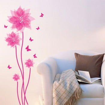 Autocolant Fanastick Flowers and Butterflies Wall de la Ambiance