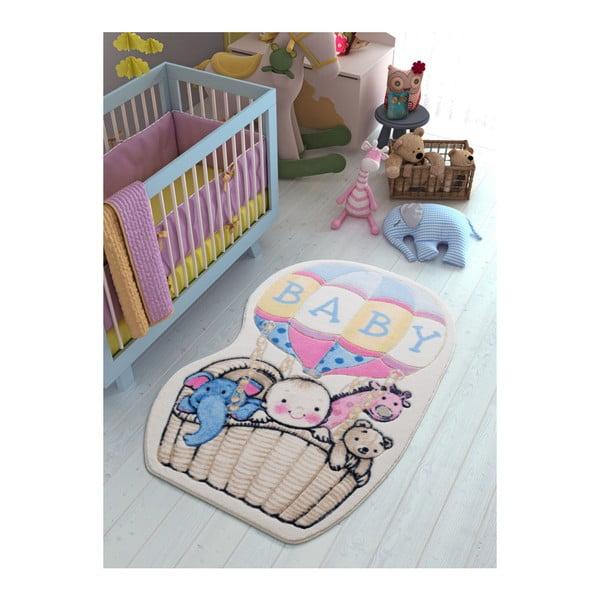 Dětský modrý koberec Confetti Air Baloon,100x150cm