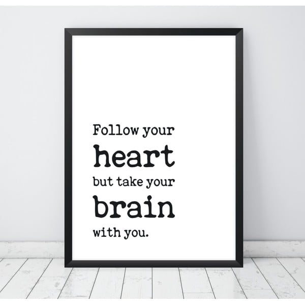 Poster Nord & Co Follow Your Heart, 30 x 40 cm