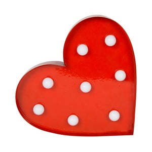 Červená světelná LED dekorace Sass & Belle Heart