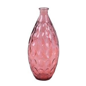 Růžová skleněná váza z recyklovaného skla Ego Dekor Dune, výška 38 cm