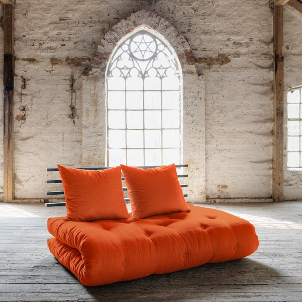Canapea extensibilă Karup Shin Sano Black/Orange