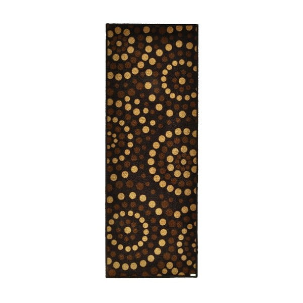 Rohožka Zala Living Dots Brown, 67 x 180 cm