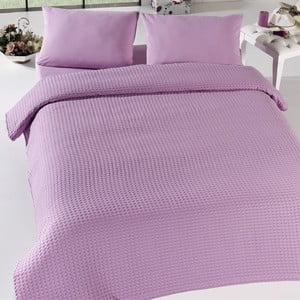 Lehký přehoz přes postel Pique Bürümcük Lilac, 200x240cm