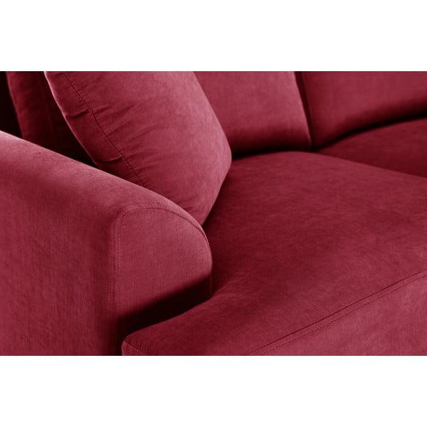 Rohová pohovka Jalouse Maison Irina, pravý roh, červená