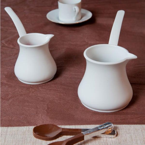 Zestaw 2 porcelanowych dżezw do kawy Nina