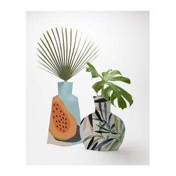 Set 2 vaze textile pentru flori Really Nice Things Tropical