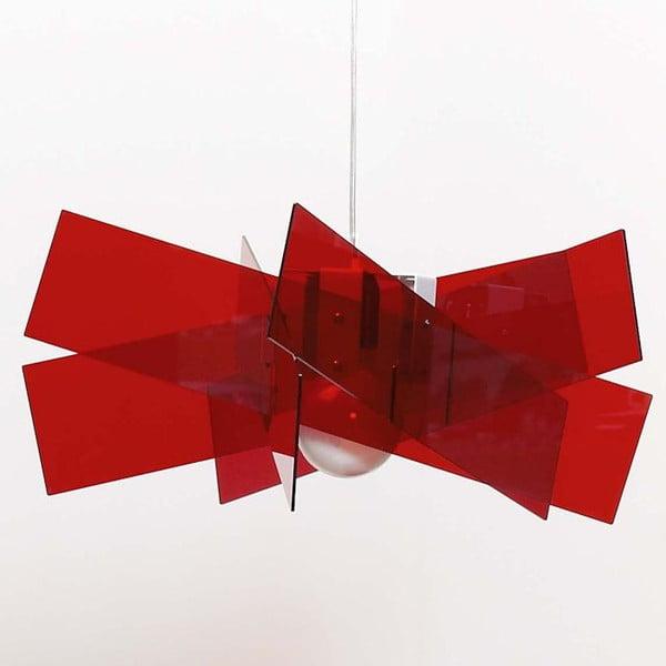 Závěsné stínidlo Kartika Maxi, červené