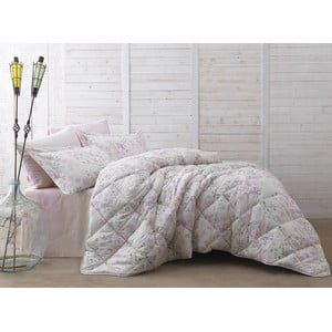 Přehoz přes postel na dvoulůžko s prostěradlem a povlaky na polštáře Peint, 195x215 cm