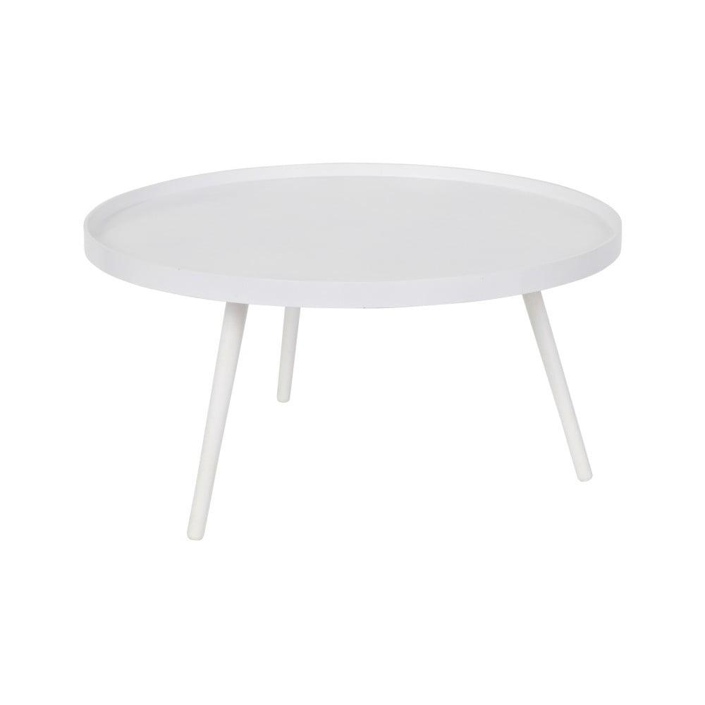 Bílý konferenční stolek WOOOD Mesa, Ø 78 cm