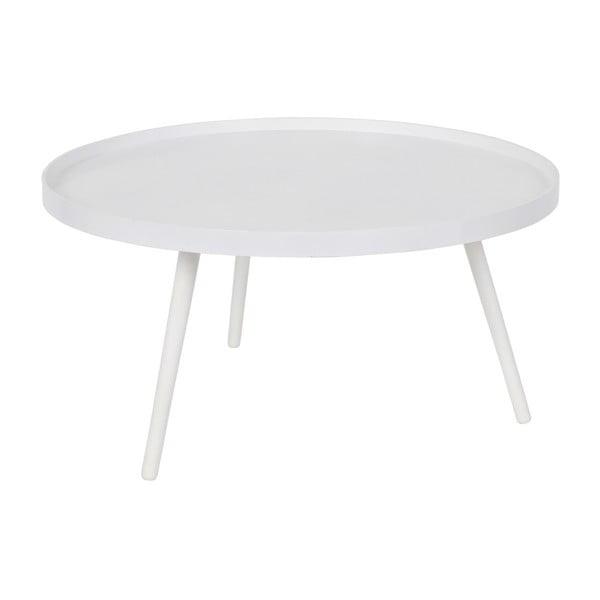 Mesa fehér dohányzóasztal, ⌀78cm - WOOOD