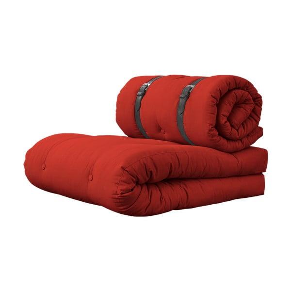 Variabilní křeslo s koženými pásky Karup Buckle Up Red
