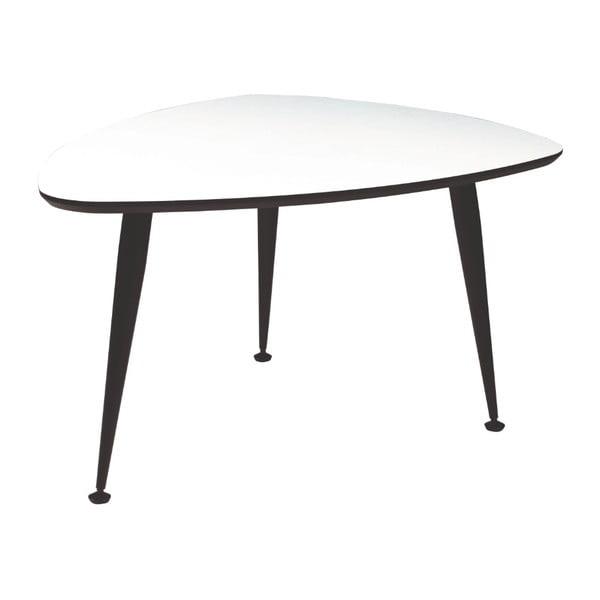 Bílý konferenční stolek s černými nohami Folke Strike, 47x70x90cm