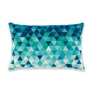 Polštář Triangles Green/Turquoise, 60x40 cm