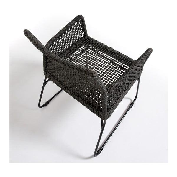 Sada 2 tmavě šedých židlí La Forma Novak