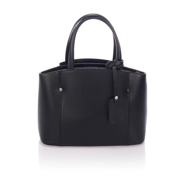 Černá kožená kabelka Giorgio Costa Brescia