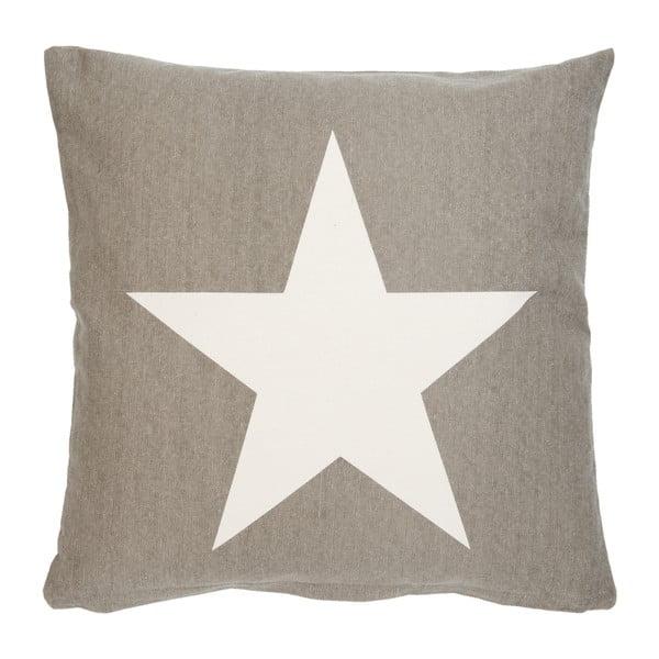 Hnědý povlak na polštář Clayre & Eef One Star, 50 x 50 cm