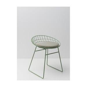 Zelená drátěná stolička s podsedákem Pastoe, 46 cm