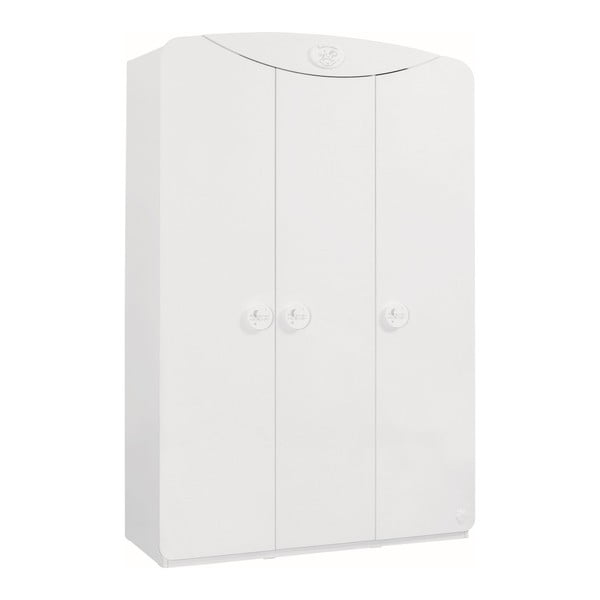 Biela šatníková skriňa Baby Cotton SI 3 Doors Wardrobe