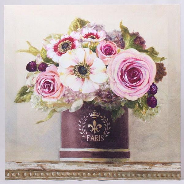 Obraz na plátně Květiny ve váze