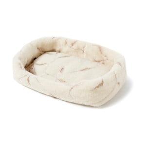 Pat coș din lână merino, pentru animale de companie Royal Dream, lățime 60 cm, bej deschis