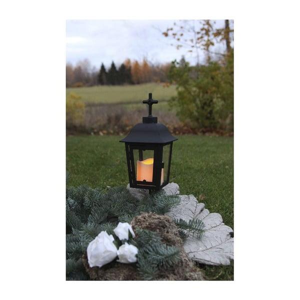 Černá LED zahradní lucerna s vyměnitelným vrškem Best Season Ball