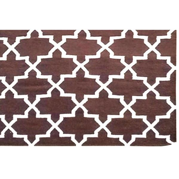 Ručně tkaný koberec Kilim Design One Brown, 160x230 cm