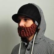 Căciulă cu barbă detașabilă, Beardo Original, negru-maro