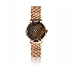 Dámské hodinky s páskem z nerezové oceli v růžovozlaté barvě Frederic Graff Jaspis