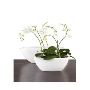 Oválny květináč 30 cm, bílý