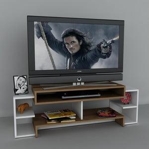 Stolek na televizi Libra White, 29,5x140x46,8 cm