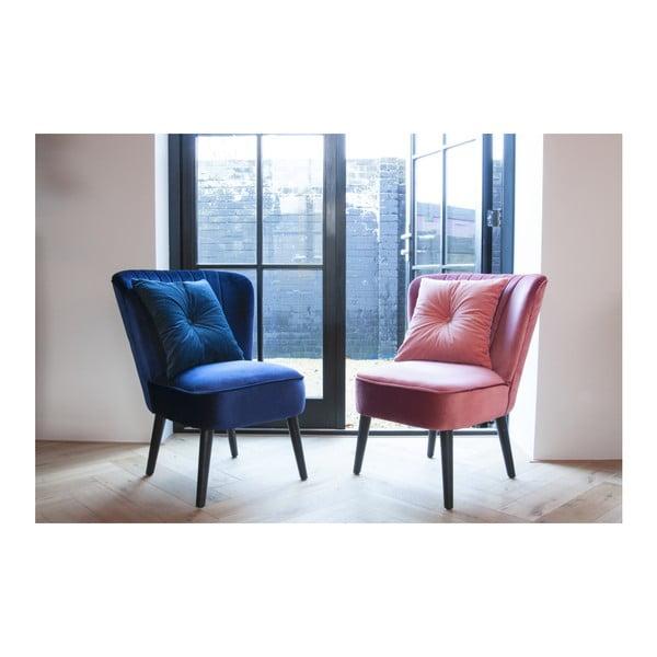 Růžová židle se sametovým potahem Leitmotiv Luxury
