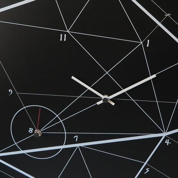 Nástěnné hodiny dESIGNoBJECT.it Time Line Black,50x50cm