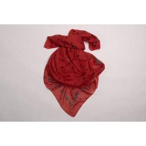 Šátek I love stars, červený