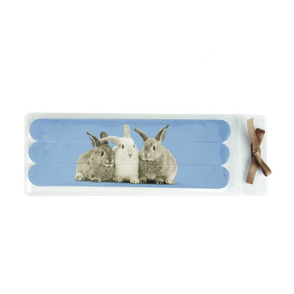Sada pilníků na nehty Rabbits on Blue