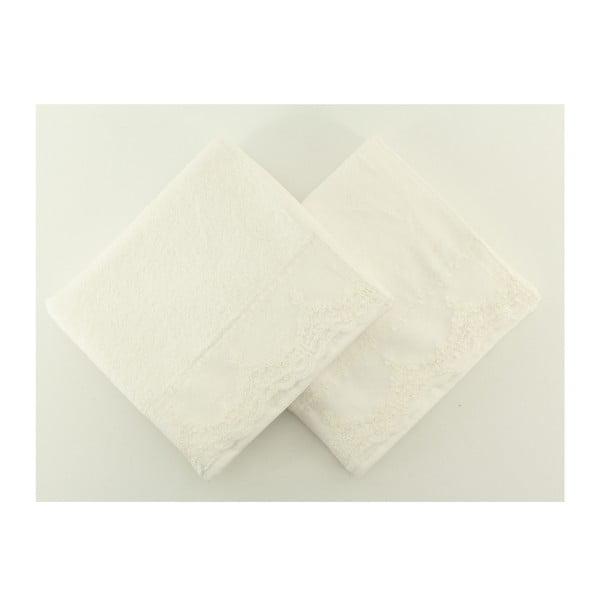 Sada 2 ručníků Almeda Cream, 50x90 cm