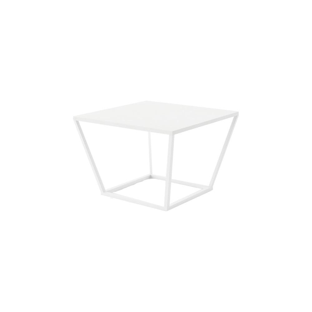 Malý bílý konferenční stůl z mramoru s bílým podnožím Absynth Noi Brazil