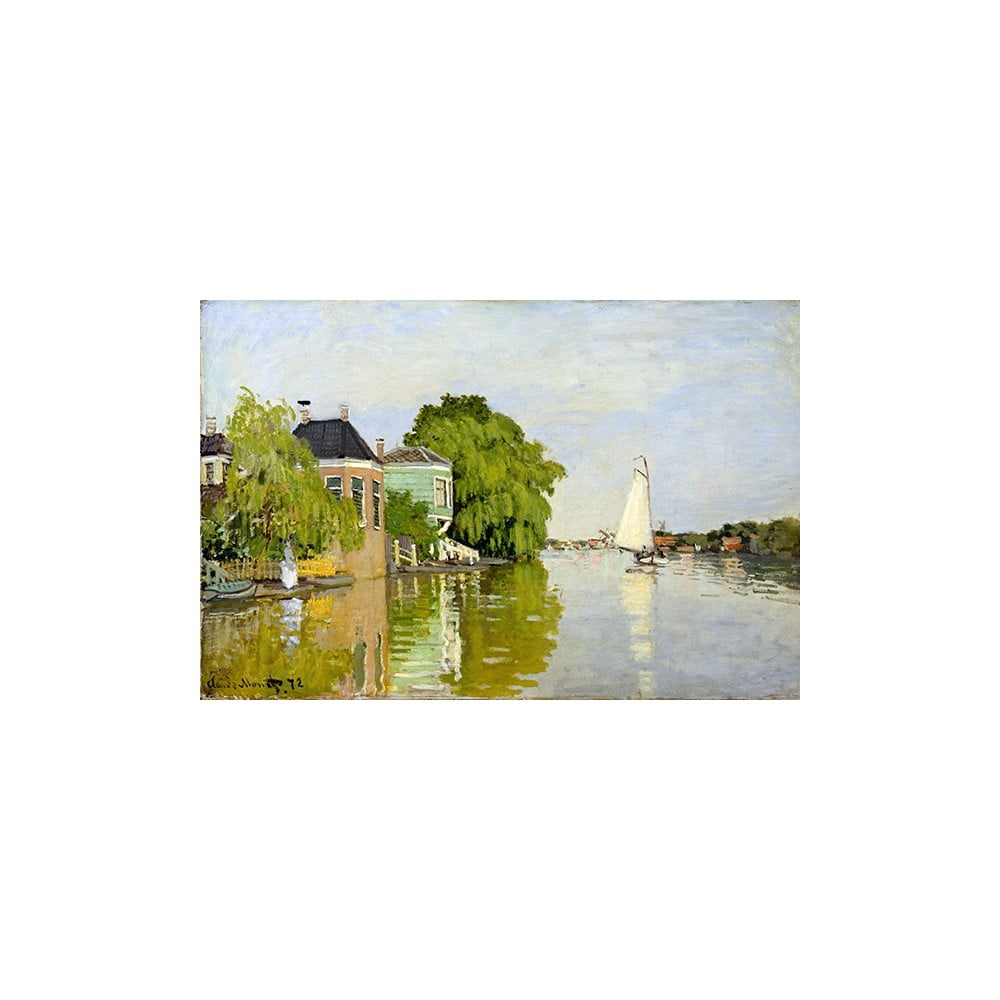 Obraz Claude Monet - Houses on the Achterzaan 90x60 cm