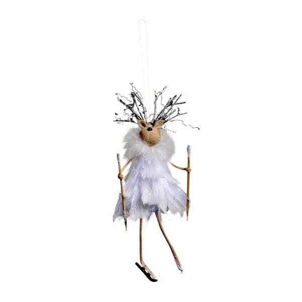 Sada 4 závesných dekorácií Côté Table Reindeer Plume