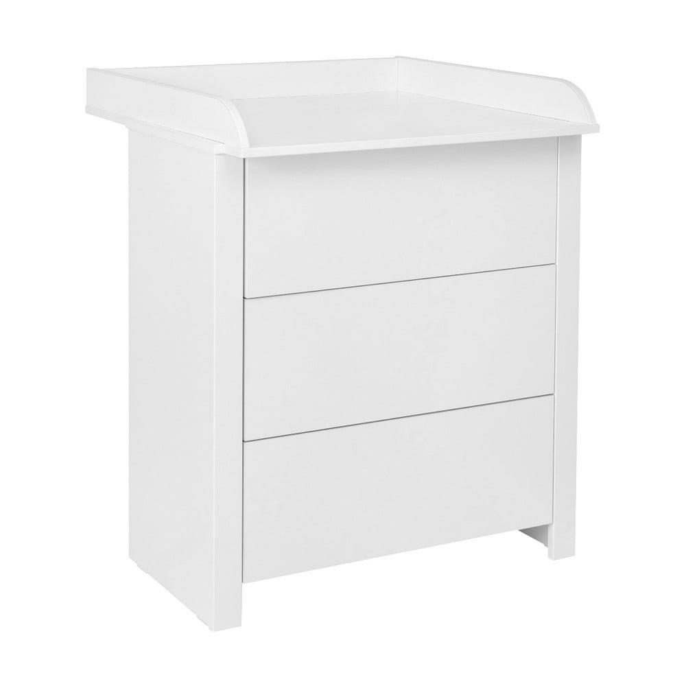 Bílá komoda s přebalovacím pultem KICOTI Simple
