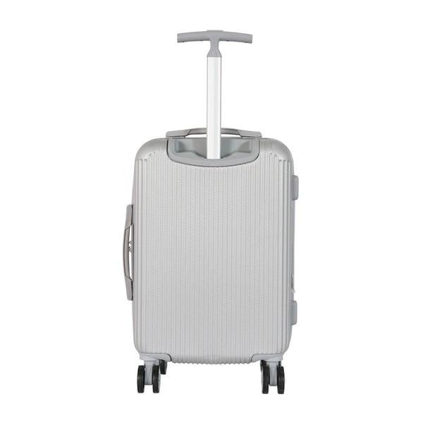 Sada 3 bílých cestovních kufrů na kolečkách Travel World Ebby